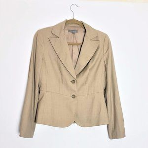 Ann Taylor Tan Fitted and Flare Blazer